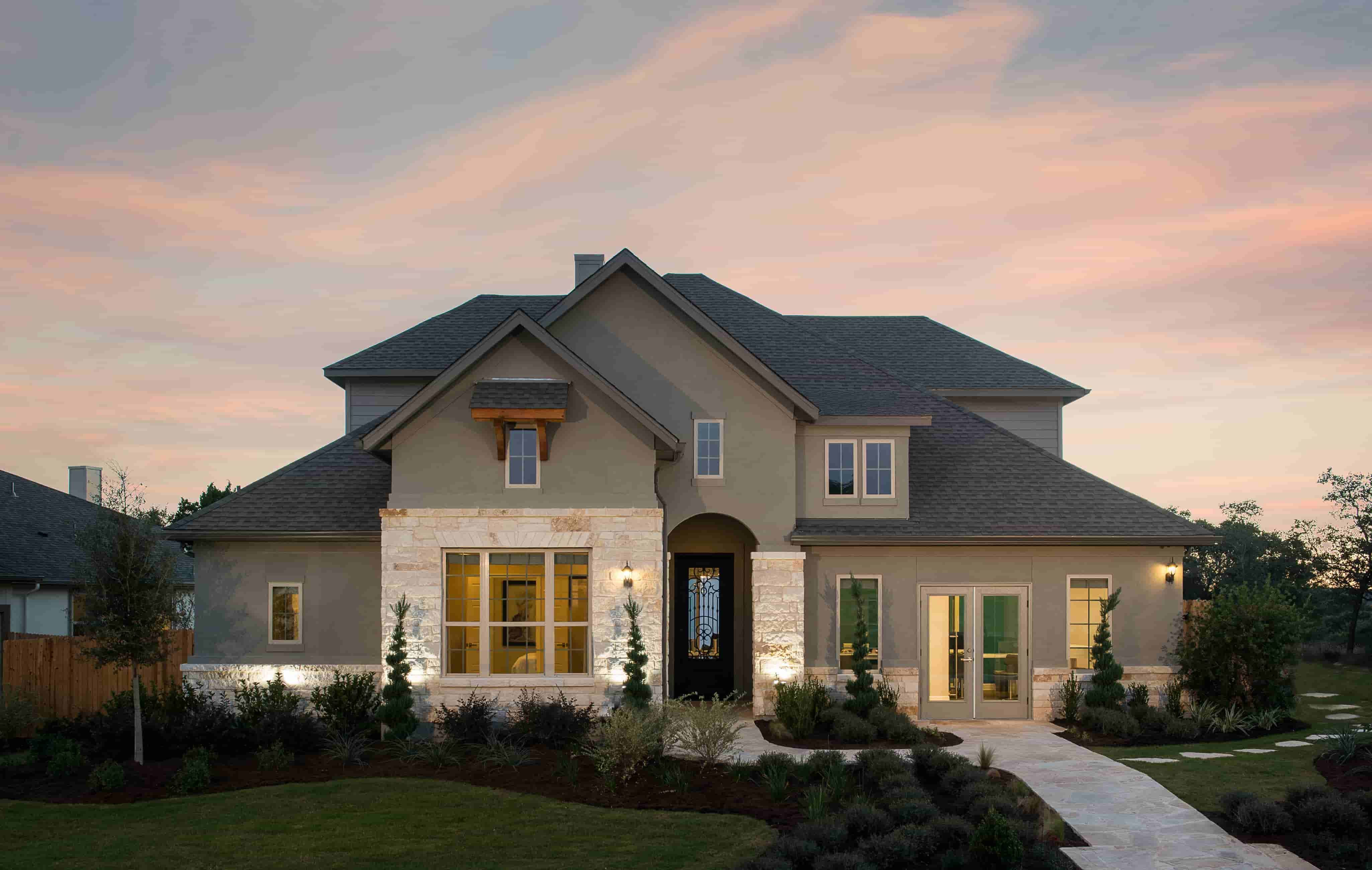 Exterior featured in the San Saba By Ashton Woods in San Antonio, TX