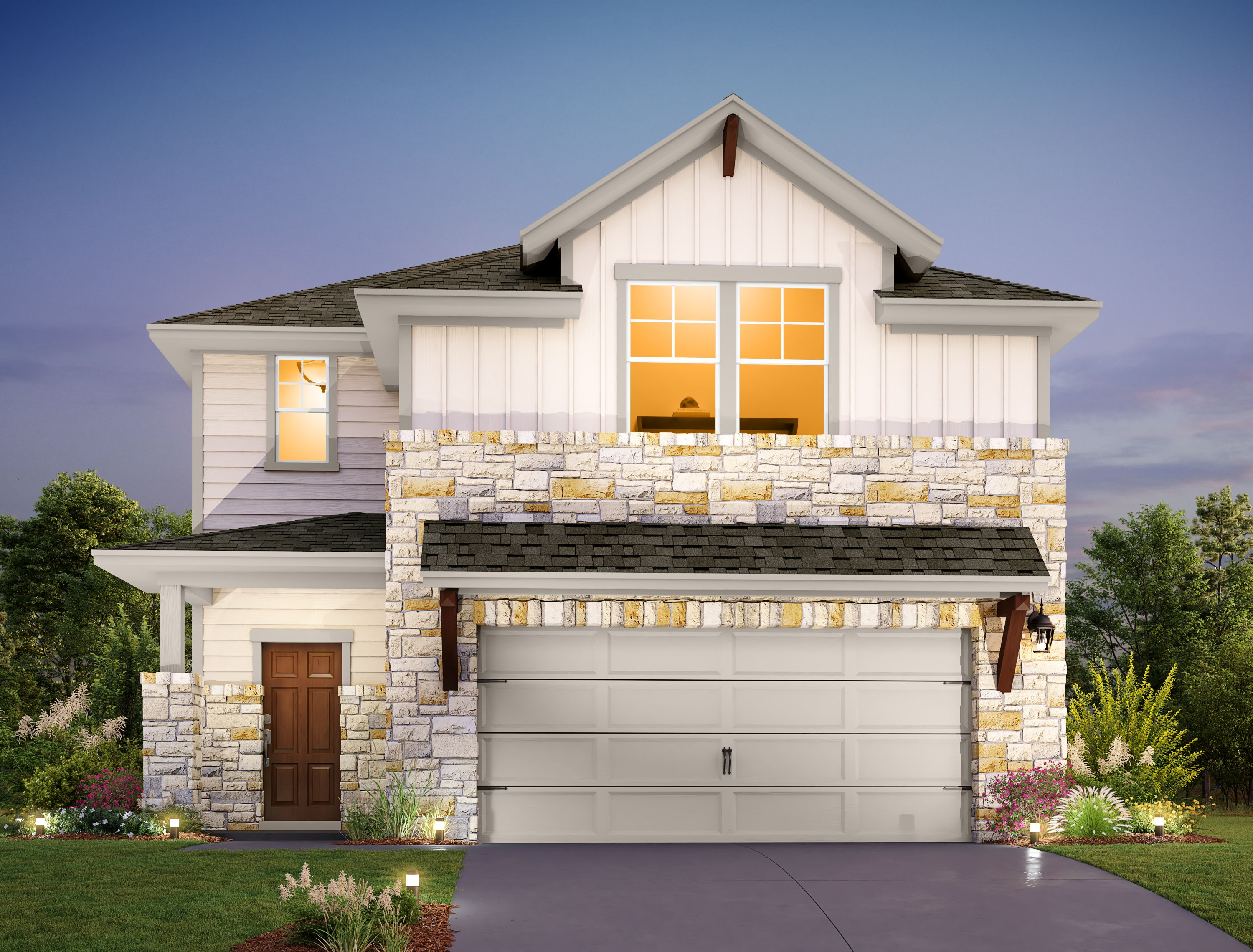Exterior featured in the Granbury By Ashton Woods in Austin, TX