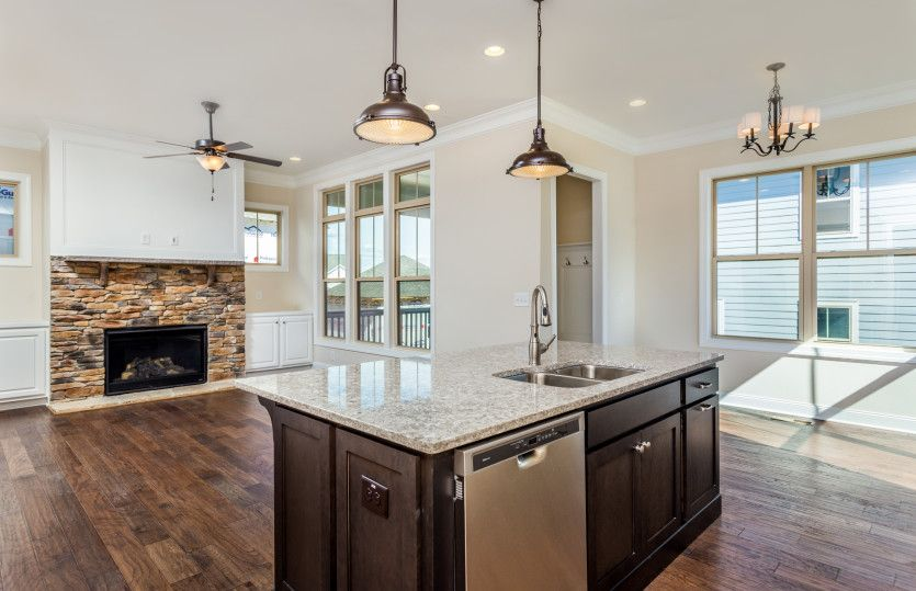 Kitchen-in-Randall-at-Holding Village-in-Wake Forest