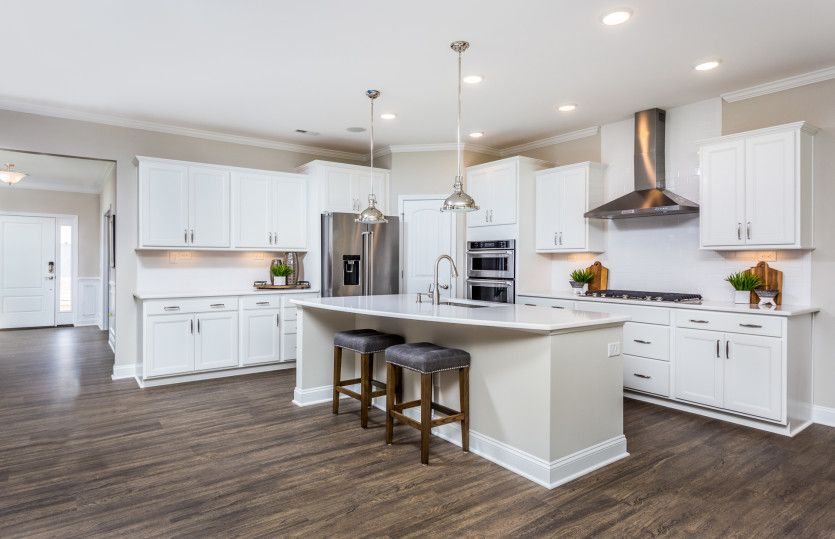 Kitchen featured in the Foxfield By John Wieland Homes in Raleigh-Durham-Chapel Hill, NC
