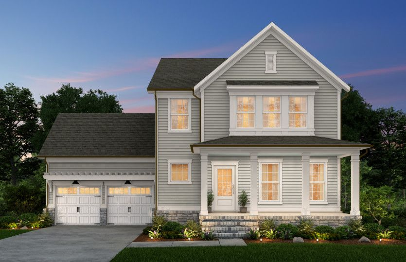 Exterior featured in the Foxfield By John Wieland Homes in Raleigh-Durham-Chapel Hill, NC