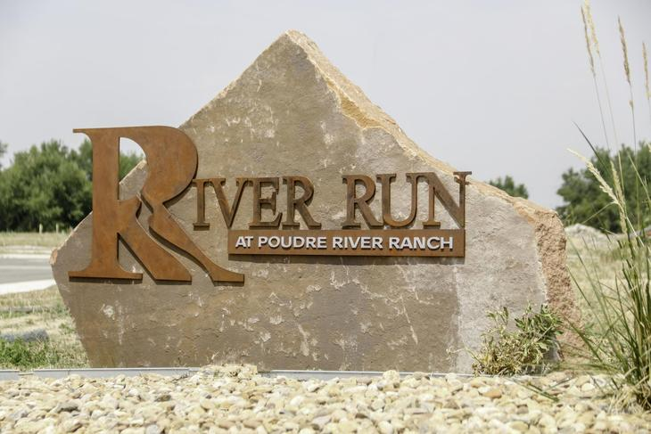 River Run Rock SIgn