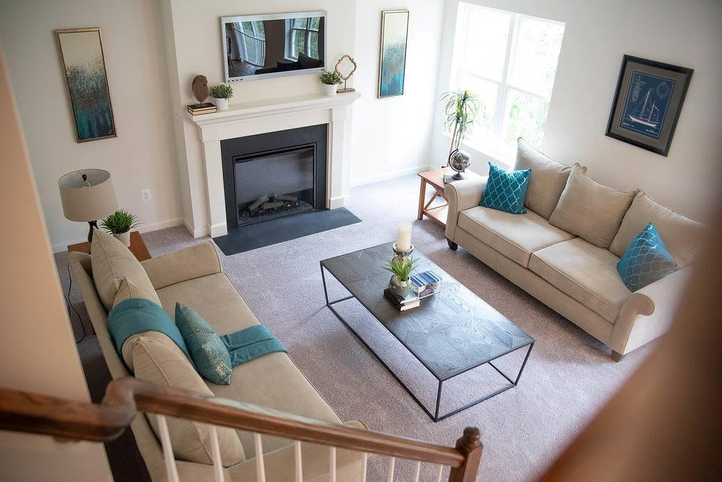 Living Area featured in the Westover By Baldwin Homes Inc. in Baltimore, MD