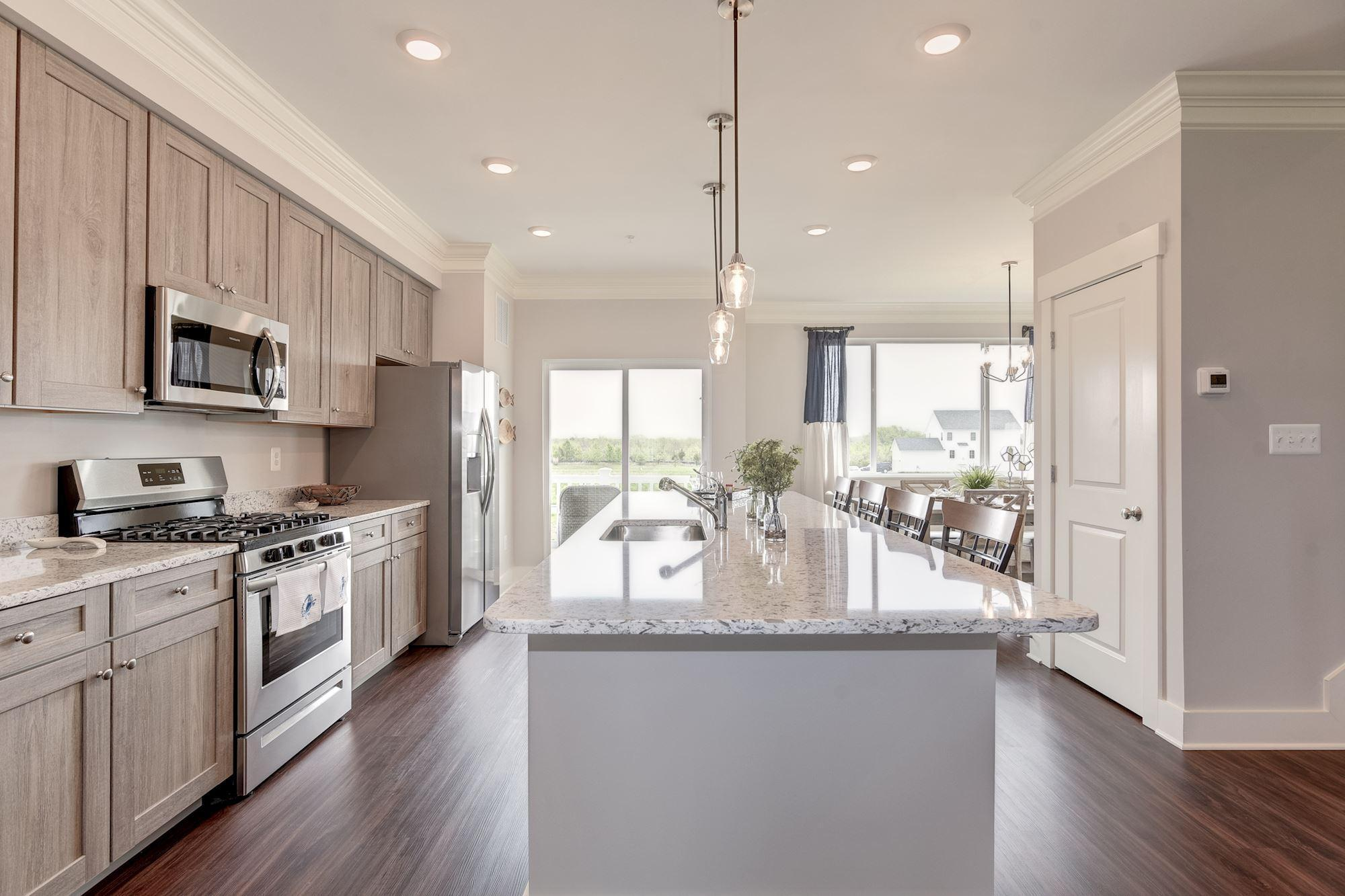 Kitchen featured in the Townhome-Interior Unit By Baldwin Homes Inc. in Eastern Shore, MD