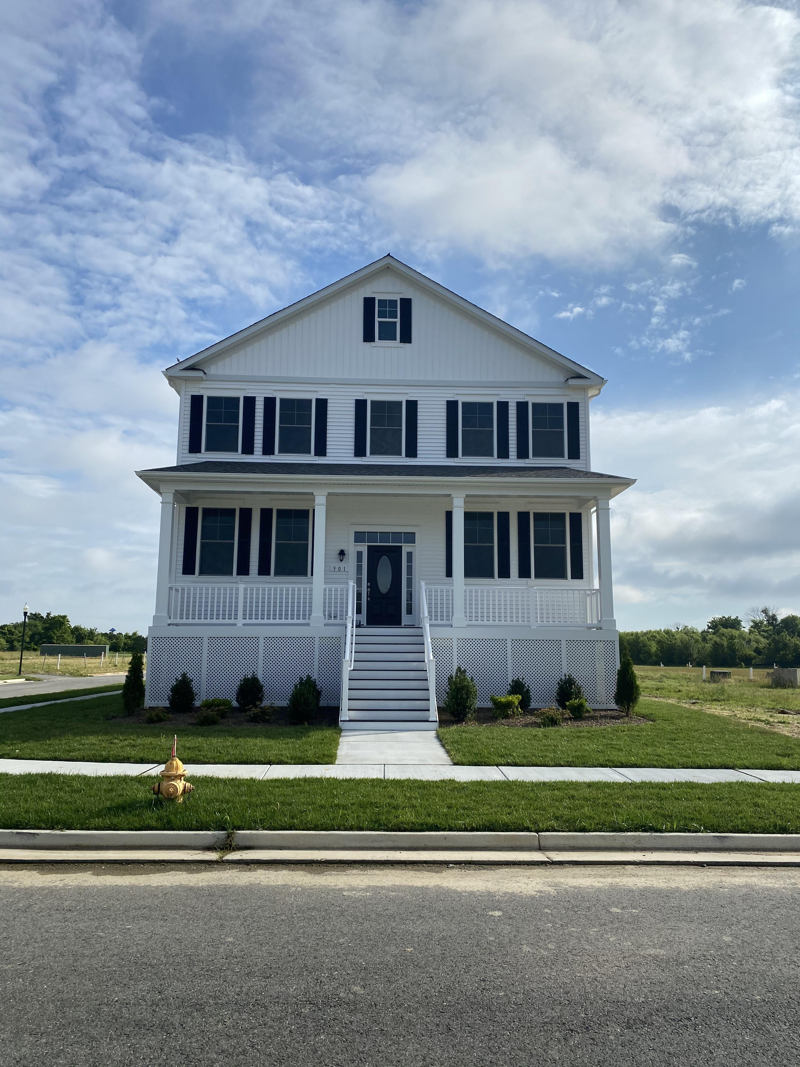 Exterior featured in the Blair with English Basement By Baldwin Homes Inc. in Eastern Shore, MD