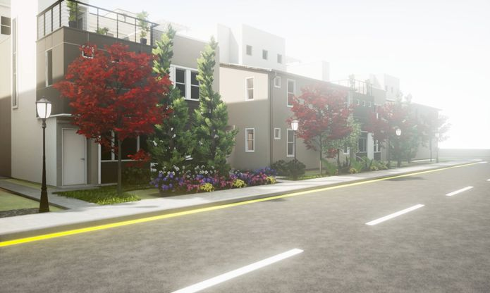 Lane Homes:Lane Homes from the street