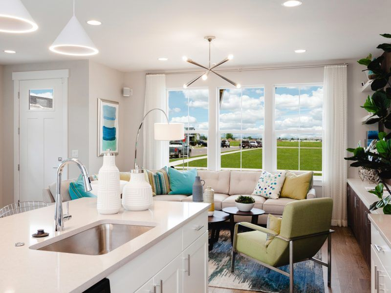 Living Area featured in the Morgan Series Plan 2 By Bates Homes in Helena, MT