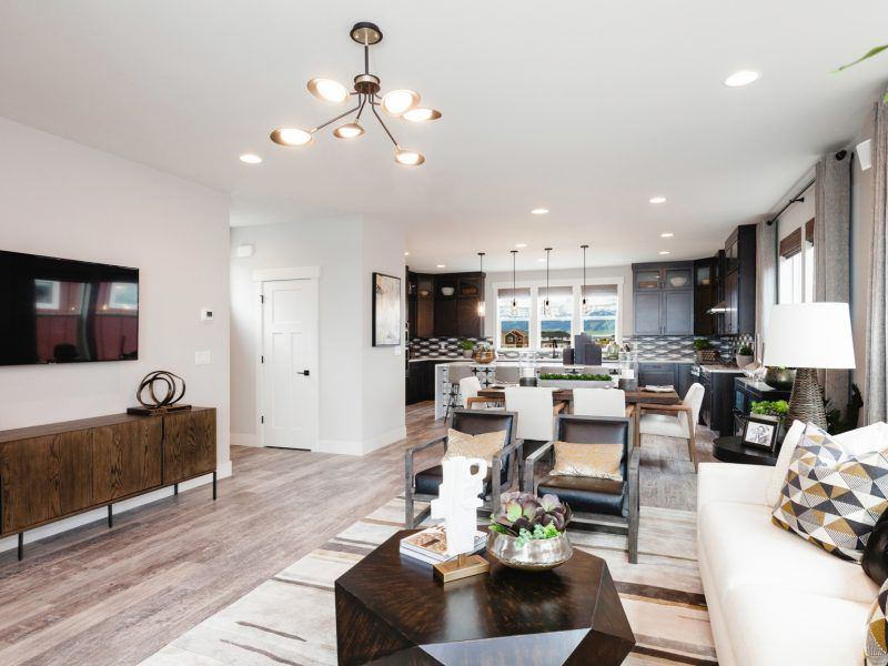 Living Area featured in the Morgan Series Plan 3 By Bates Homes in Helena, MT