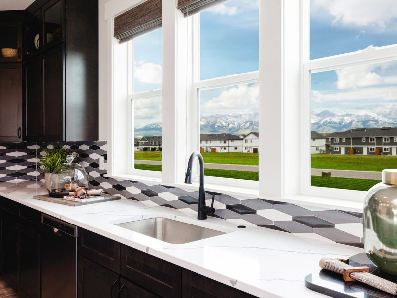 Kitchen featured in the Morgan Series Plan 3 By Bates Homes in Helena, MT