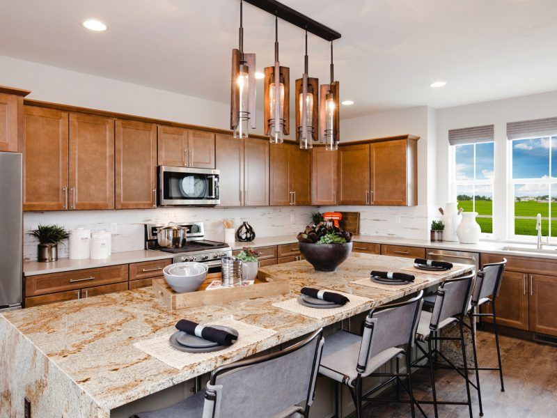 Kitchen featured in the Morgan Series Plan 4 By Bates Homes in Helena, MT