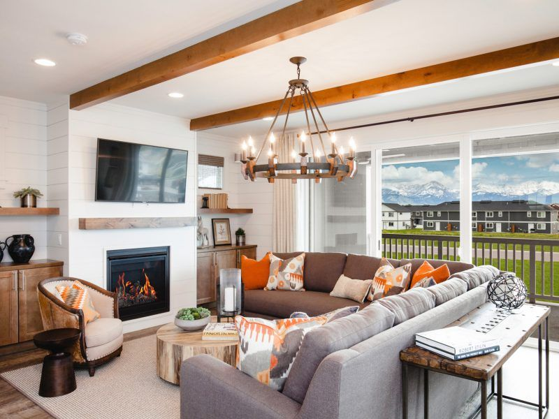 Living Area featured in the Morgan Series Plan 4 By Bates Homes in Helena, MT