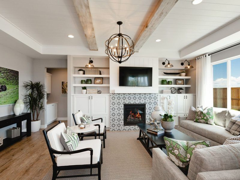 Living Area featured in the Appaloosa Series Plan 2 By Bates Homes in Helena, MT