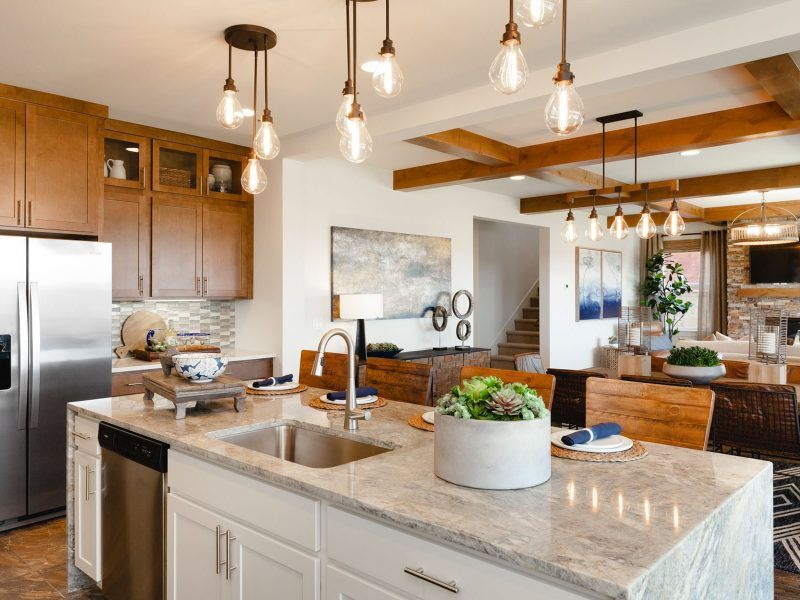 Kitchen featured in the Appaloosa Series Plan 3 By Bates Homes in Helena, MT