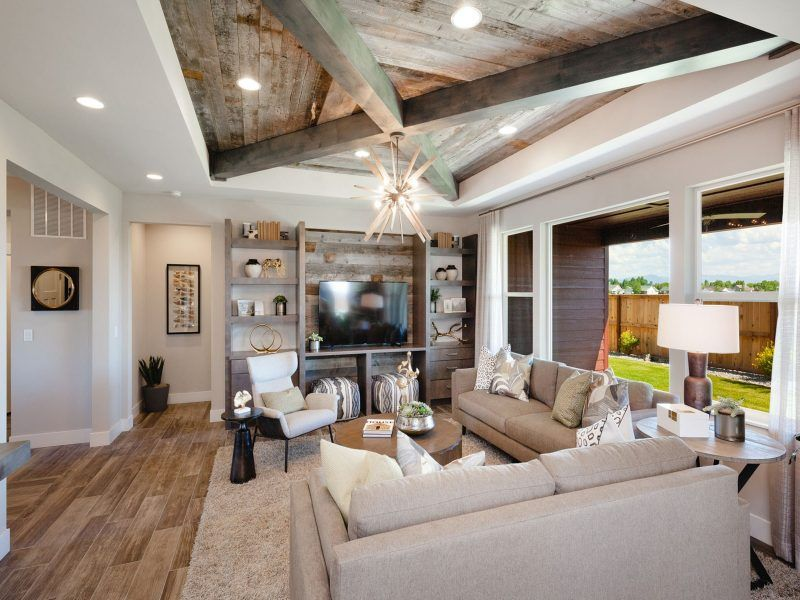 Living Area featured in the Appaloosa Series Plan 4 By Bates Homes in Helena, MT