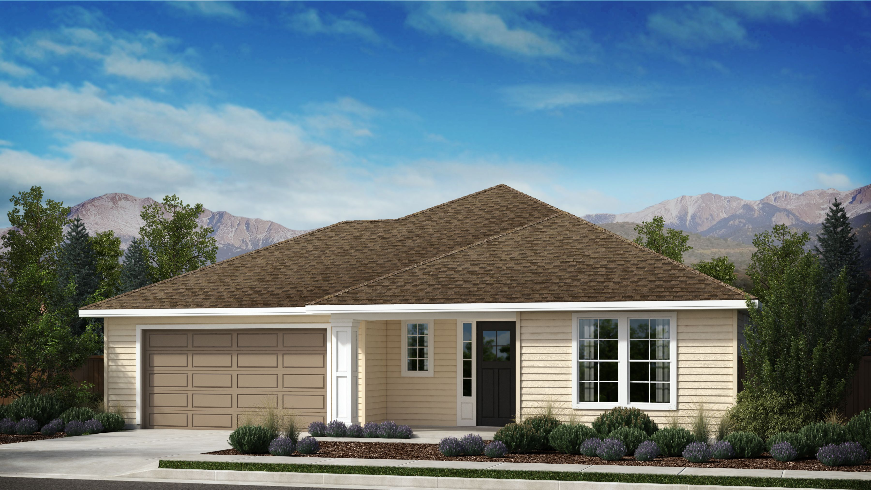 Exterior featured in the Appaloosa Series Plan 1 By Bates Homes in Helena, MT