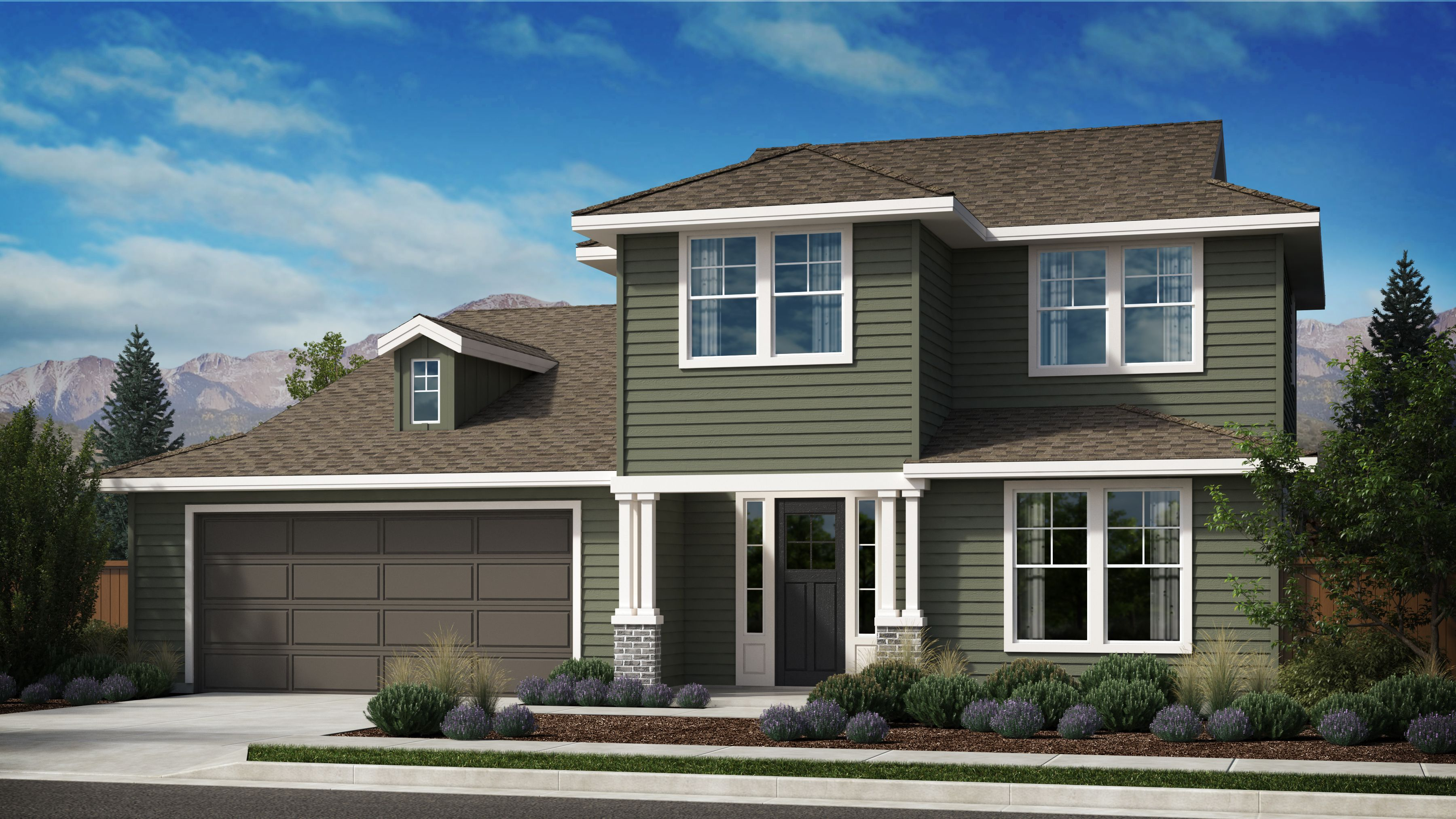 Exterior featured in the Appaloosa Series Plan 4 By Bates Homes in Helena, MT