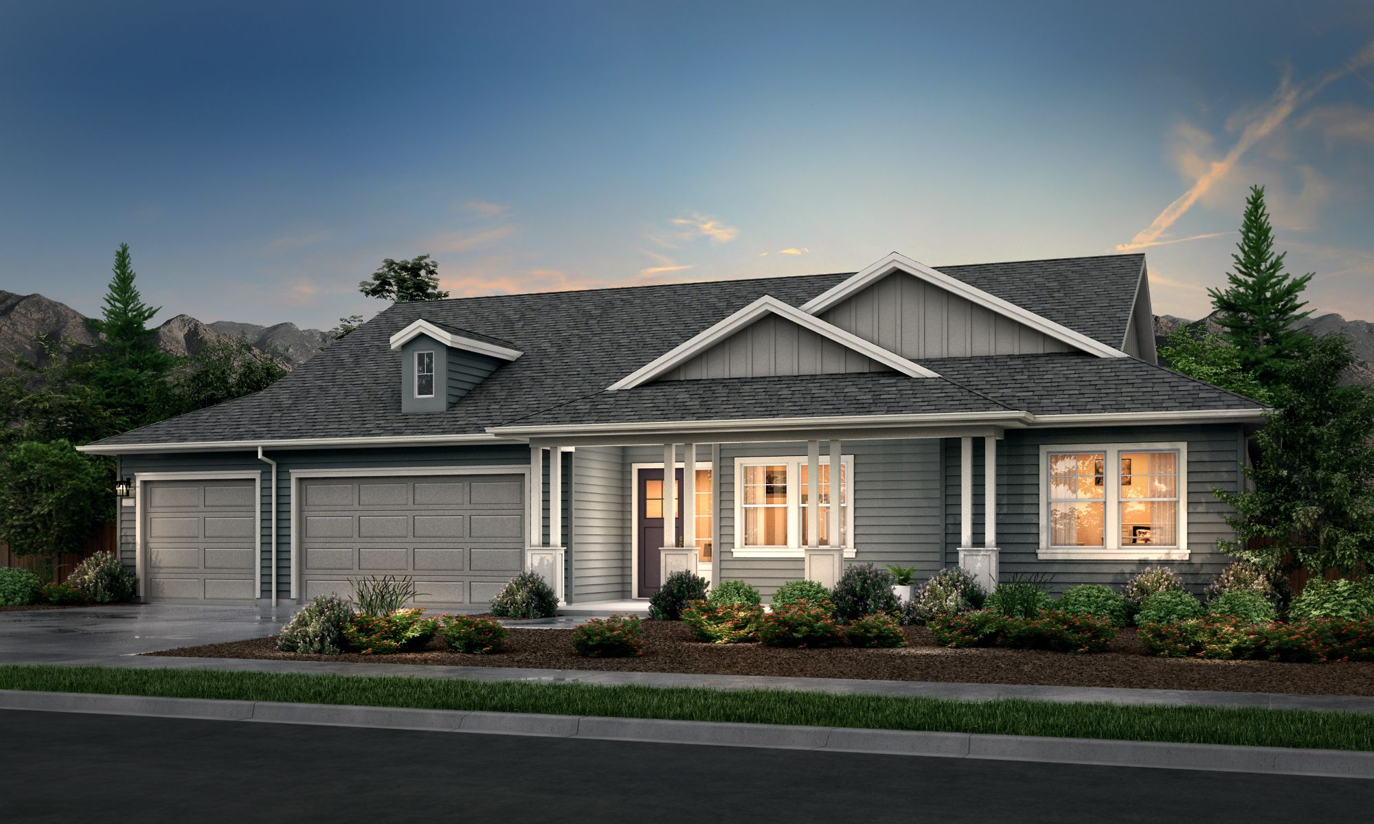 Exterior featured in the Lusitano Series Plan 1 By Bates Homes in Helena, MT