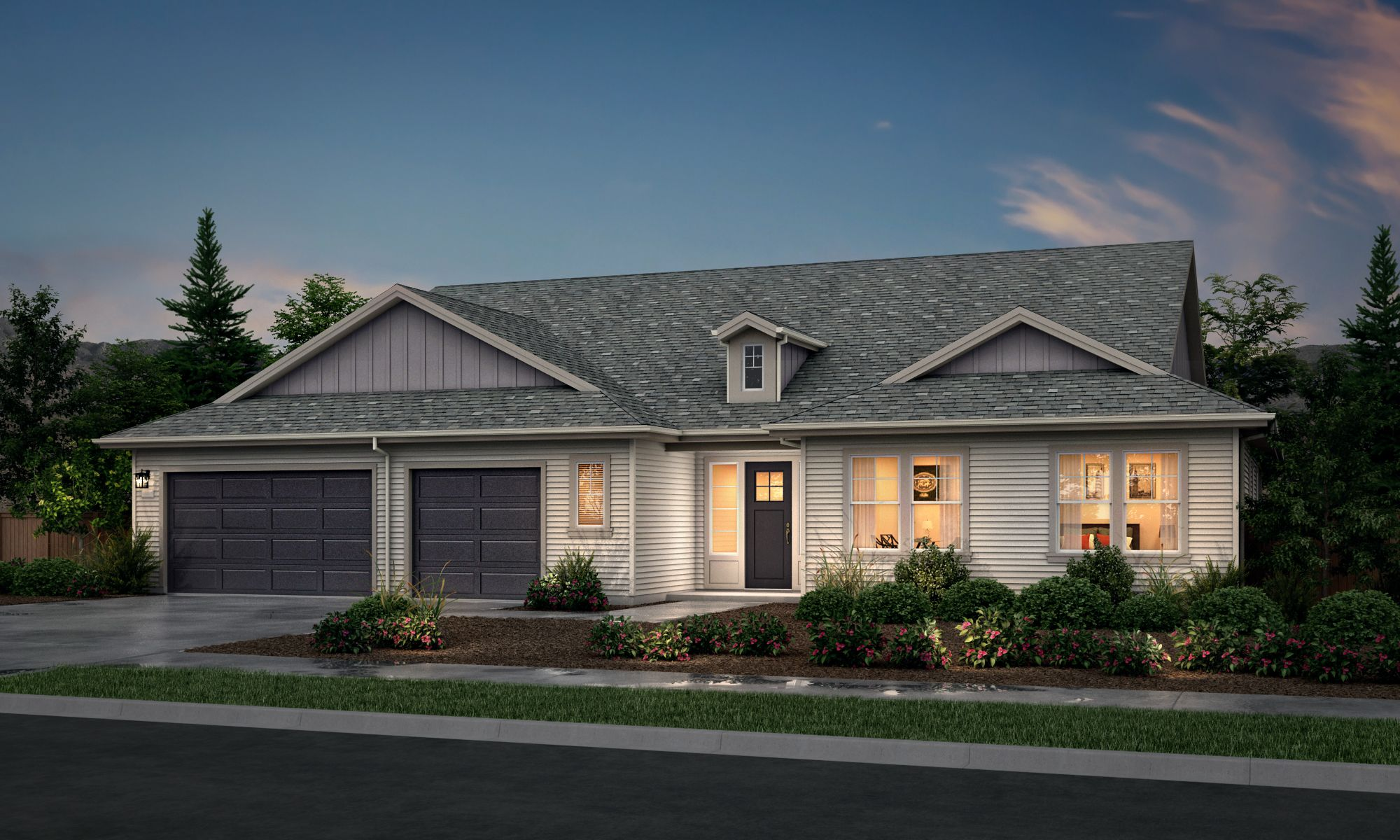 Exterior featured in the Lusitano Series Plan 2 By Bates Homes in Helena, MT