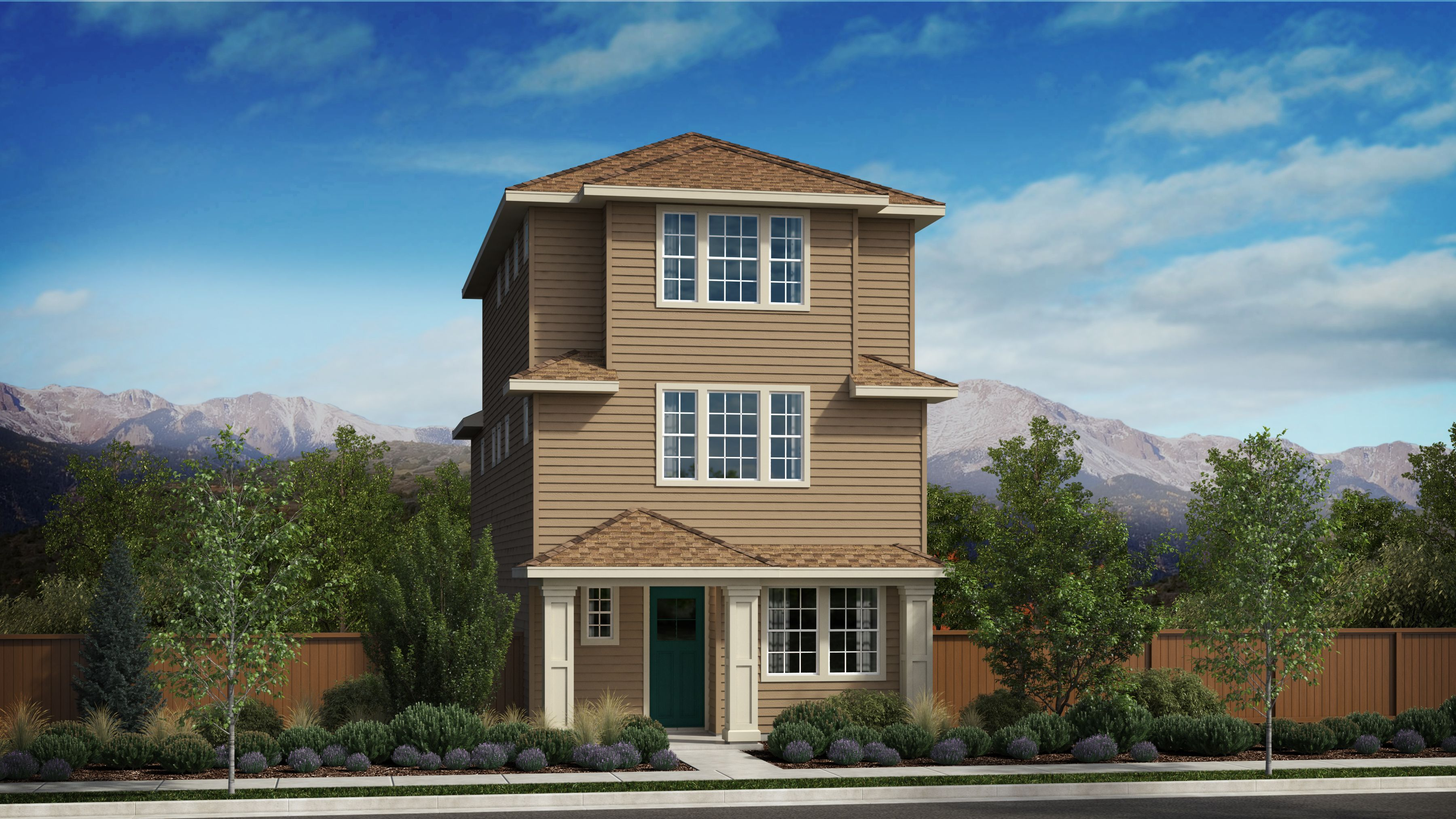 Exterior featured in the Morgan Series Plan 4 By Bates Homes in Helena, MT