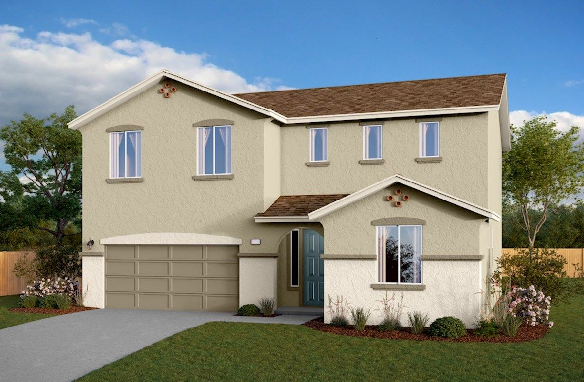 Exterior featured in the Residence 3 By Beazer Homes in Visalia, CA