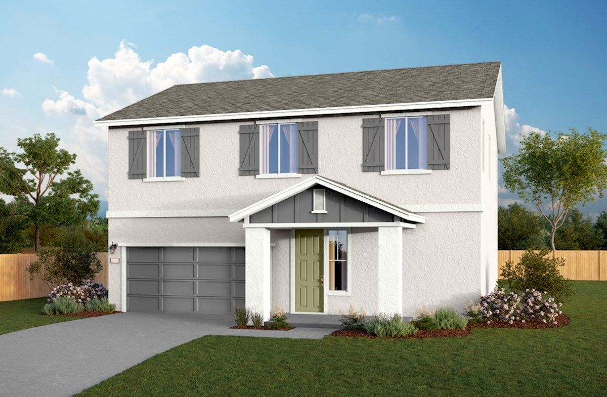 Exterior featured in the Residence 2 By Beazer Homes in Visalia, CA
