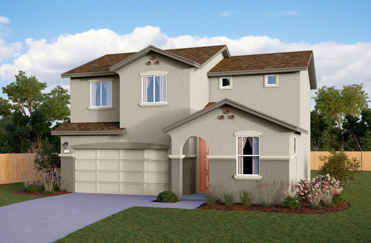 Exterior featured in the Residence 4 By Beazer Homes in Visalia, CA