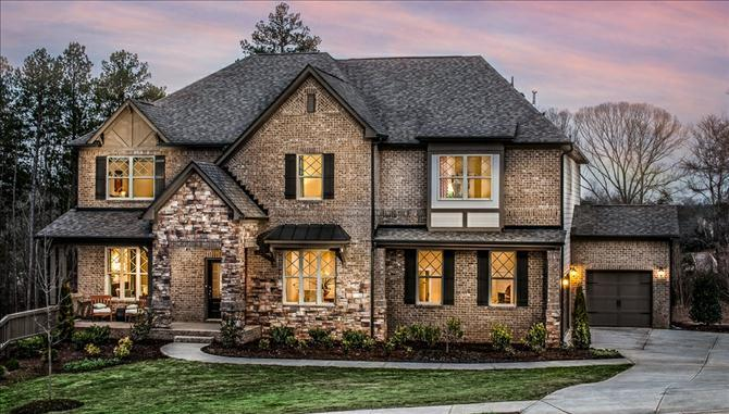 Victoria Plan exterior with stone accents