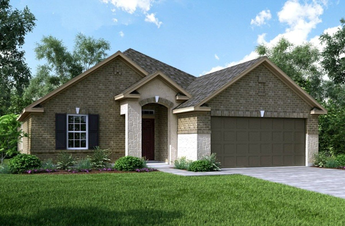 Exterior featured in the Anderson By Beazer Homes in Houston, TX