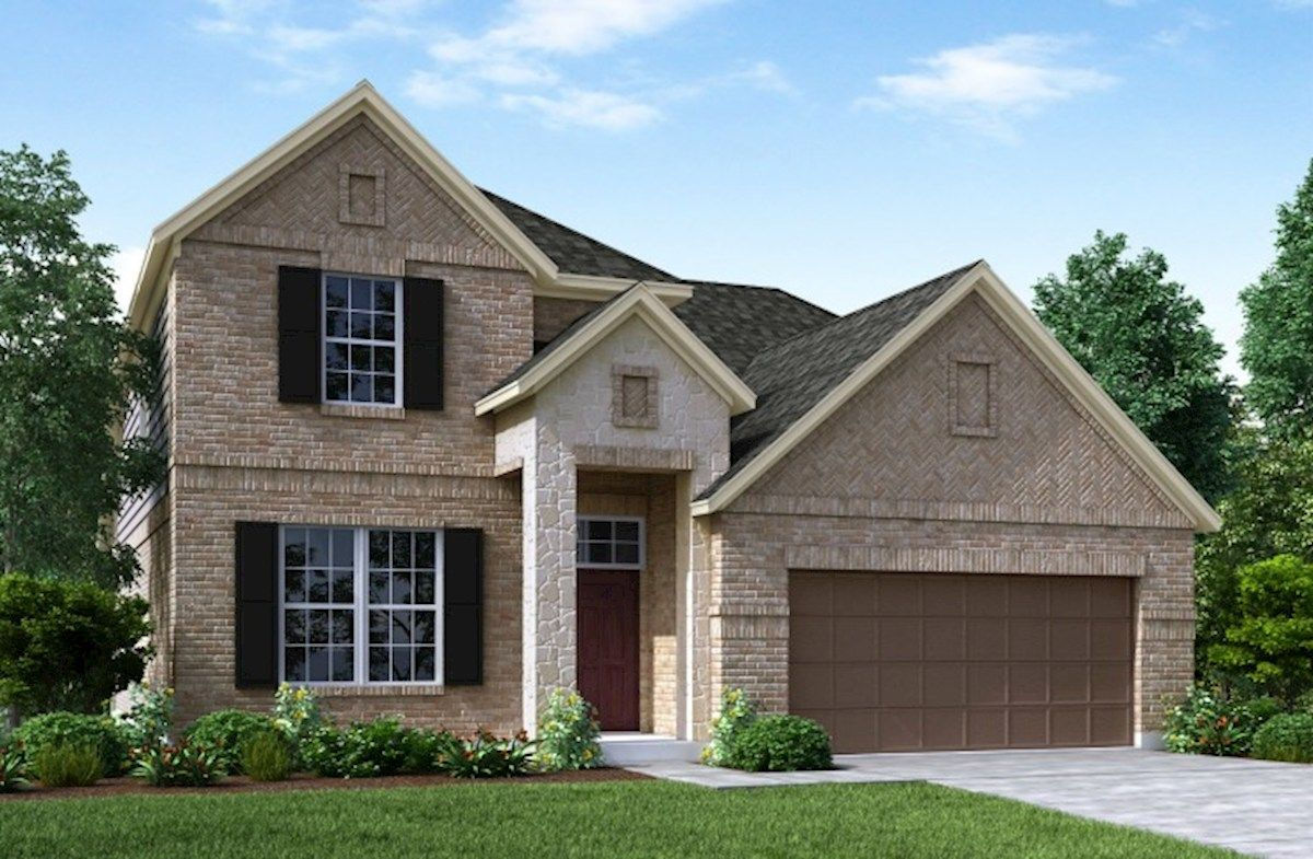 Exterior featured in the Armstrong By Beazer Homes in Houston, TX