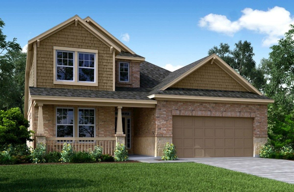 Exterior featured in the Sedona By Beazer Homes in Houston, TX
