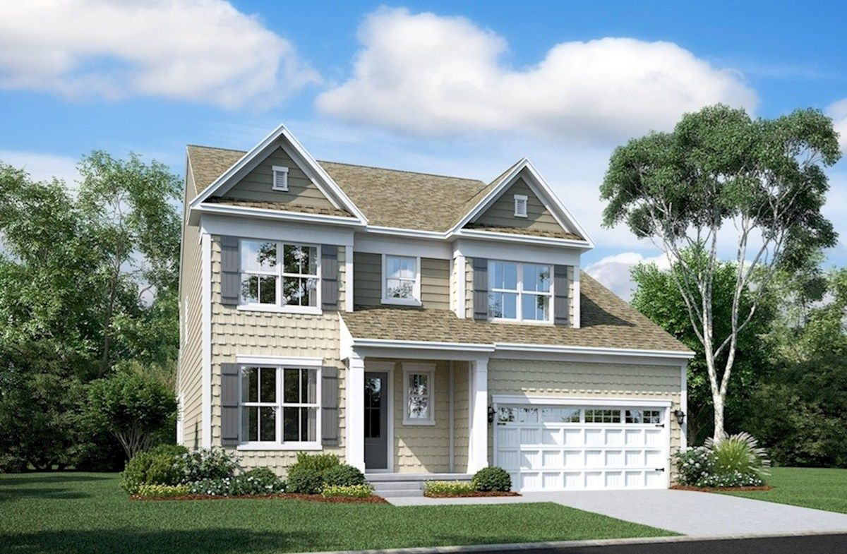 Exterior featured in the Newport By Beazer Homes in Sussex, DE