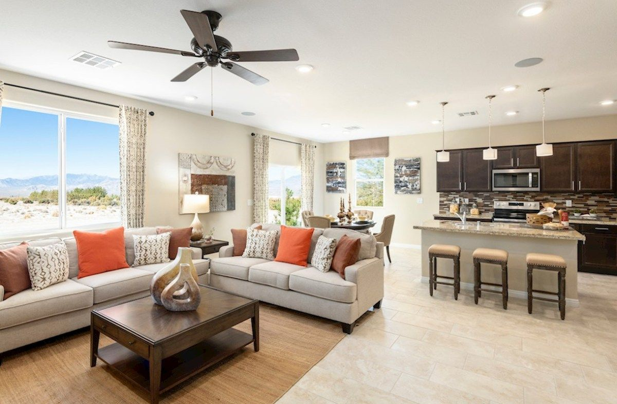 Greatroom-and-Dining-in-Verano-at-Hawthorne at Sedona Ranch-in-North Las Vegas
