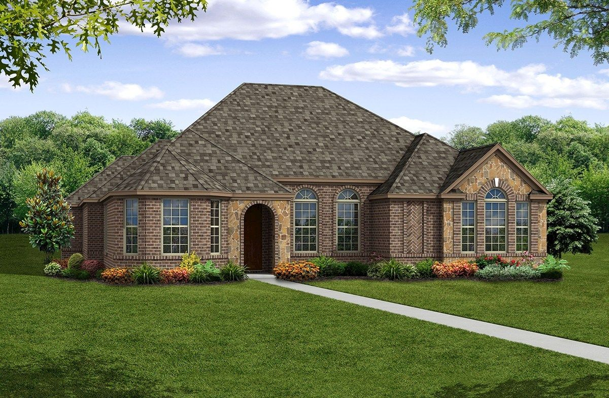 Exterior featured in the Belmeade By Beazer Homes in Dallas, TX