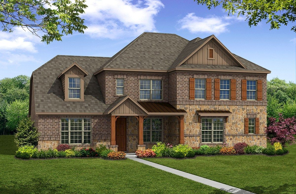 Exterior featured in the Riverdale By Beazer Homes in Dallas, TX