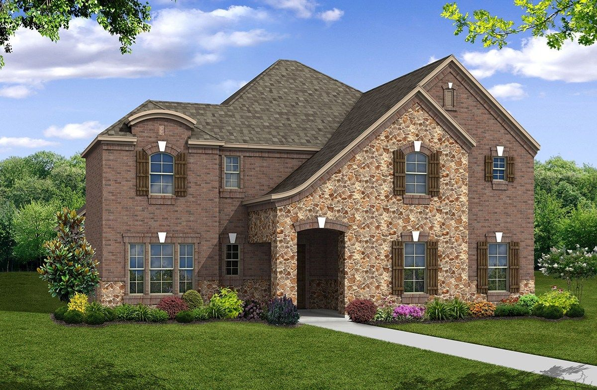 Exterior featured in the Westfield By Beazer Homes in Dallas, TX