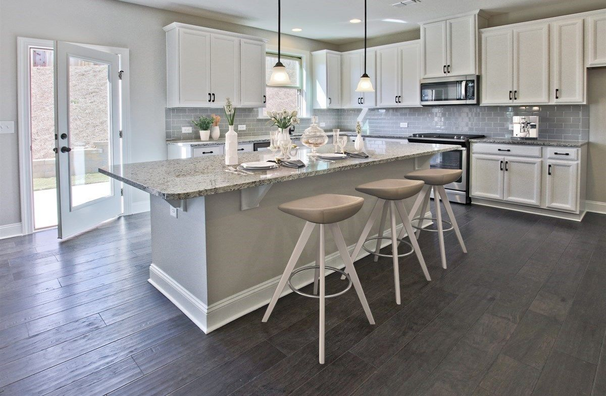 Kitchen-in-Manchester-at-Summit at Towne Lake-in-Woodstock