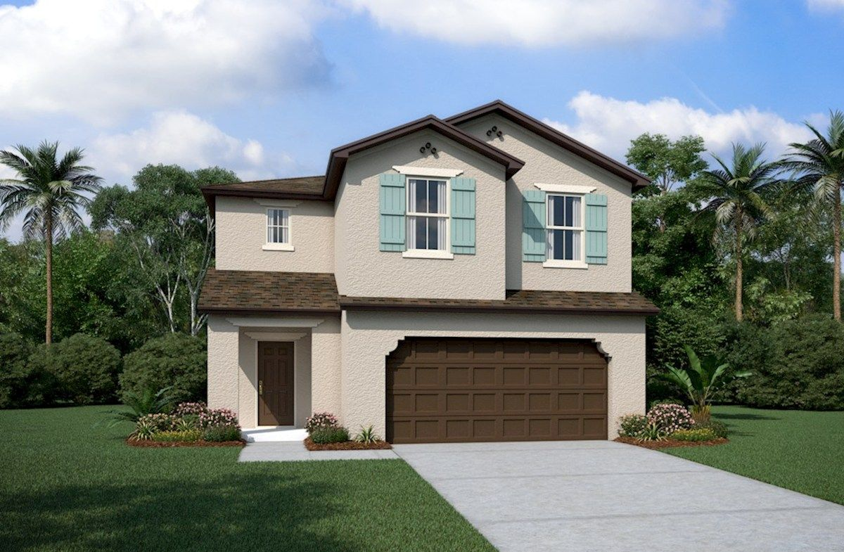 Exterior featured in the Somerset By Beazer Homes in Orlando, FL