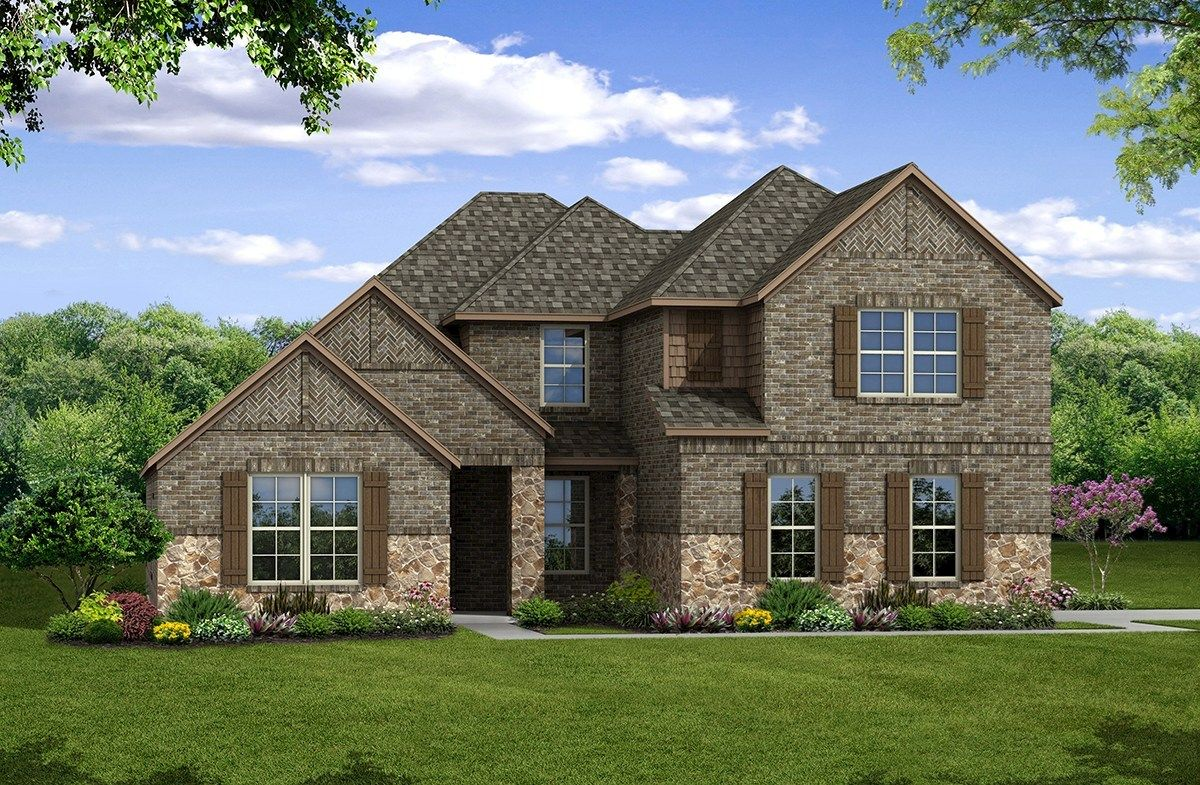 Exterior featured in the Kerrville By Beazer Homes in Dallas, TX