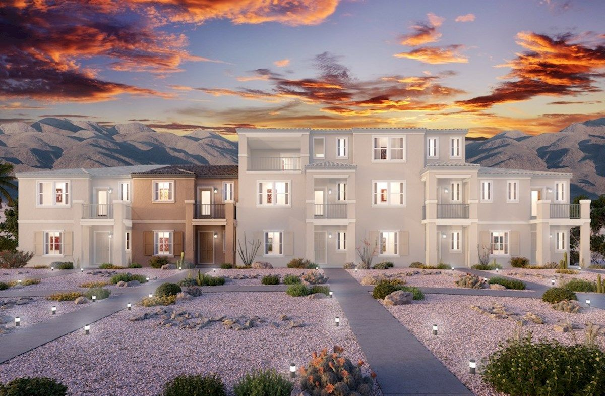 Exterior featured in the Griffin By Beazer Homes in Las Vegas, NV