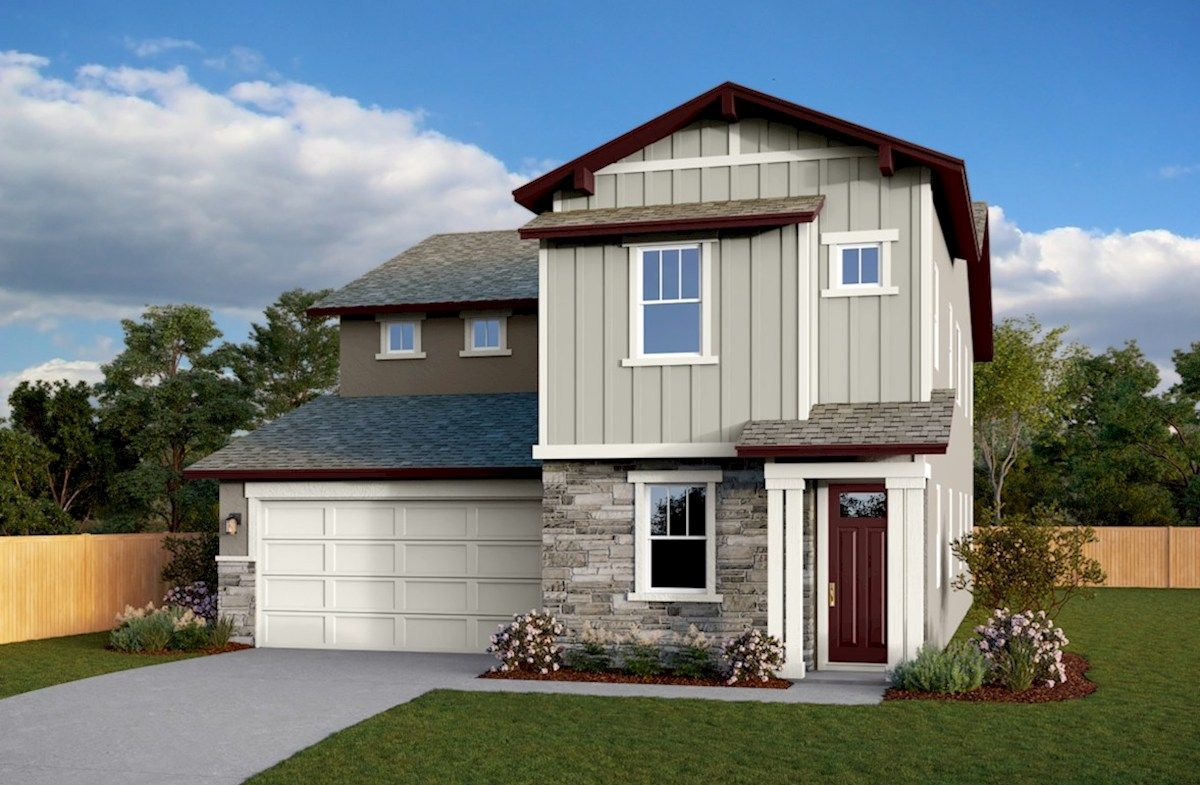 Exterior featured in the Residence 3 By Beazer Homes in Sacramento, CA