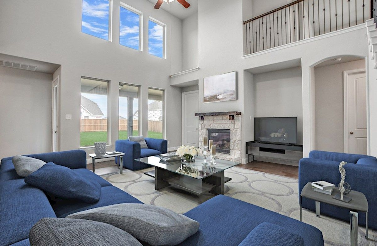 Living Area featured in the Riverdale By Beazer Homes in Dallas, TX