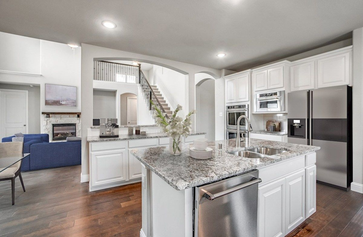 Kitchen featured in the Riverdale By Beazer Homes in Dallas, TX