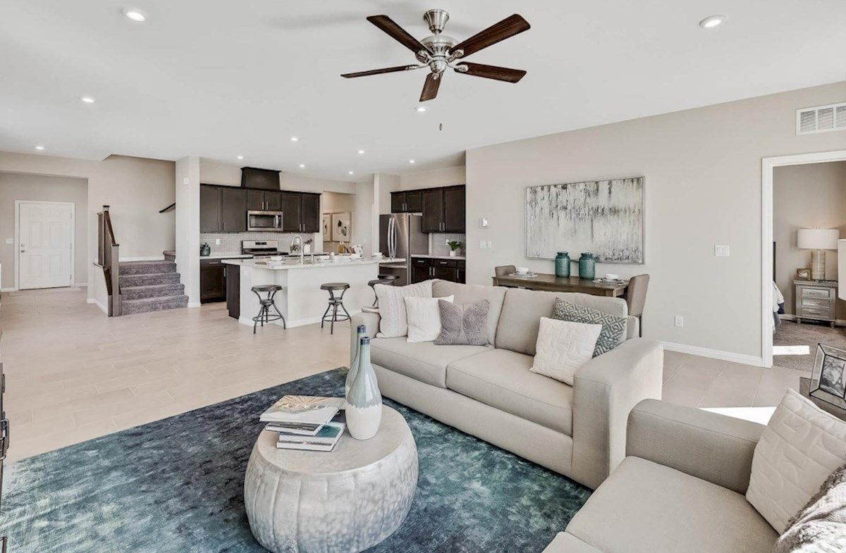 Living Area featured in the Sequoia By Beazer Homes in Las Vegas, NV