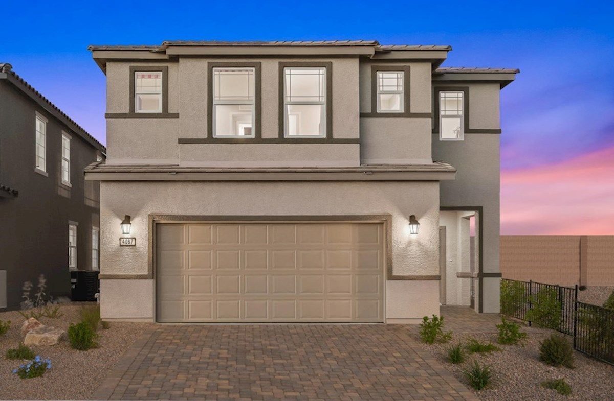 Exterior featured in the Sequoia By Beazer Homes in Las Vegas, NV