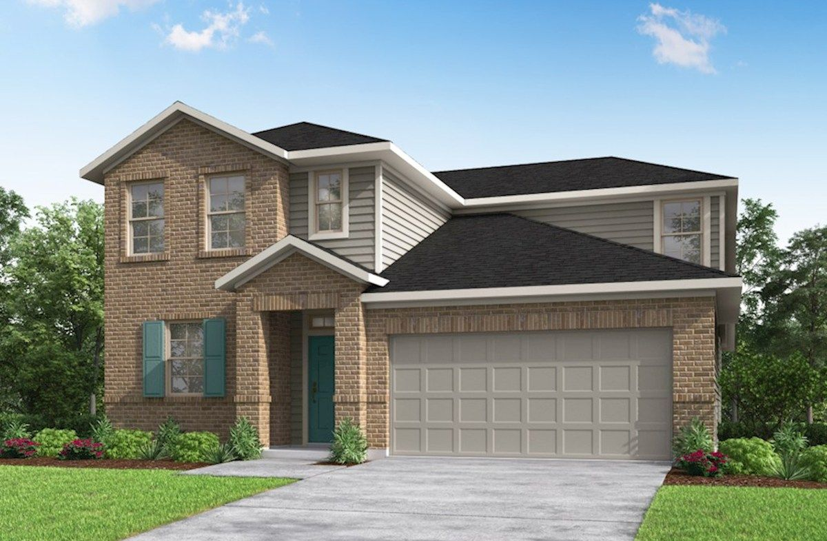 Exterior featured in the Cascade By Beazer Homes in Houston, TX