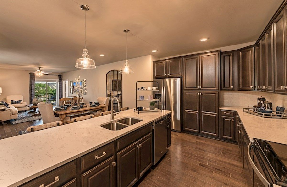 Kitchen featured in the Dorset By Beazer Homes in Dallas, TX