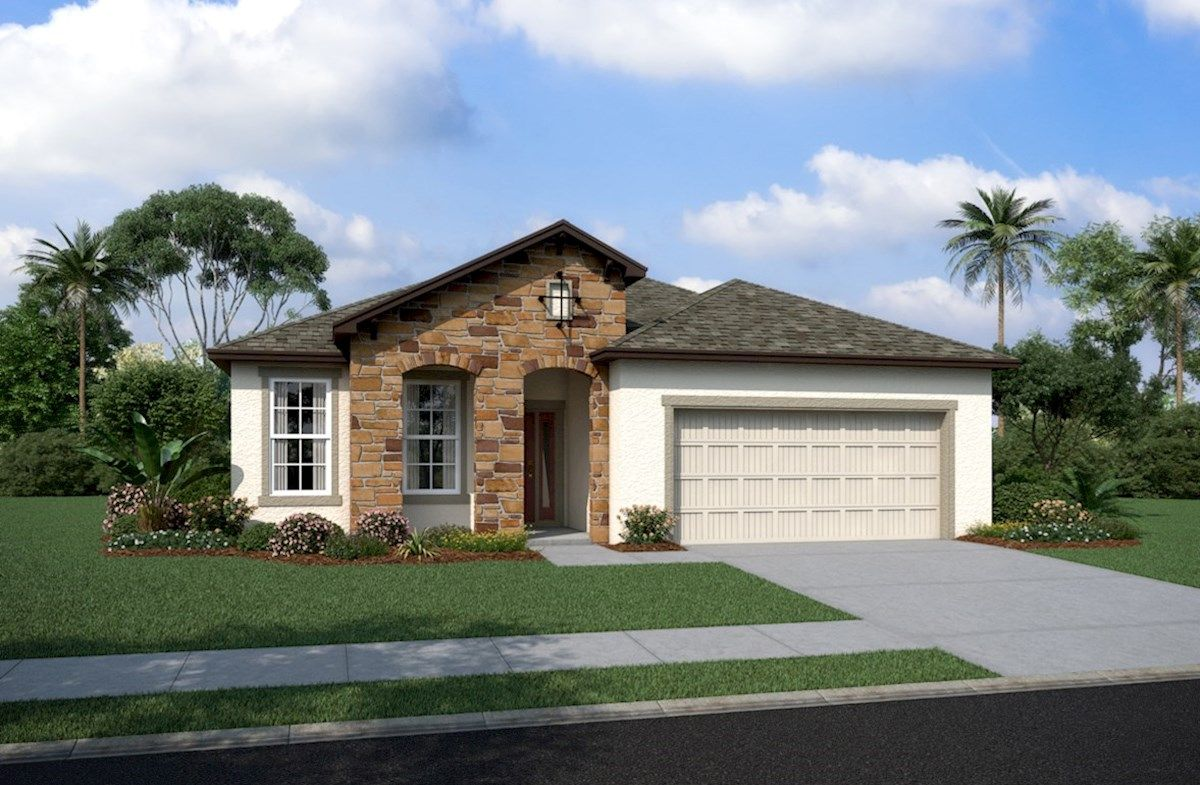 Exterior featured in the Bayview By Beazer Homes in Tampa-St. Petersburg, FL
