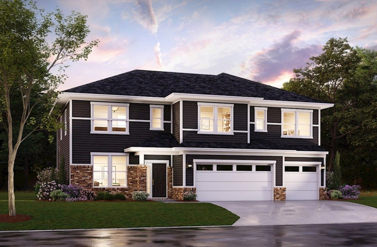 Exterior featured in the Johnson By Beazer Homes in Indianapolis, IN