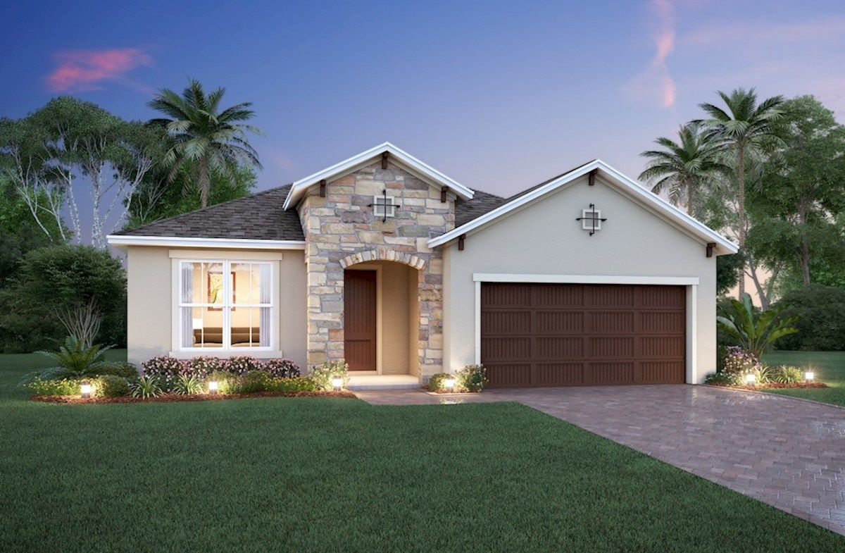 Exterior featured in the Cambridge By Beazer Homes in Orlando, FL
