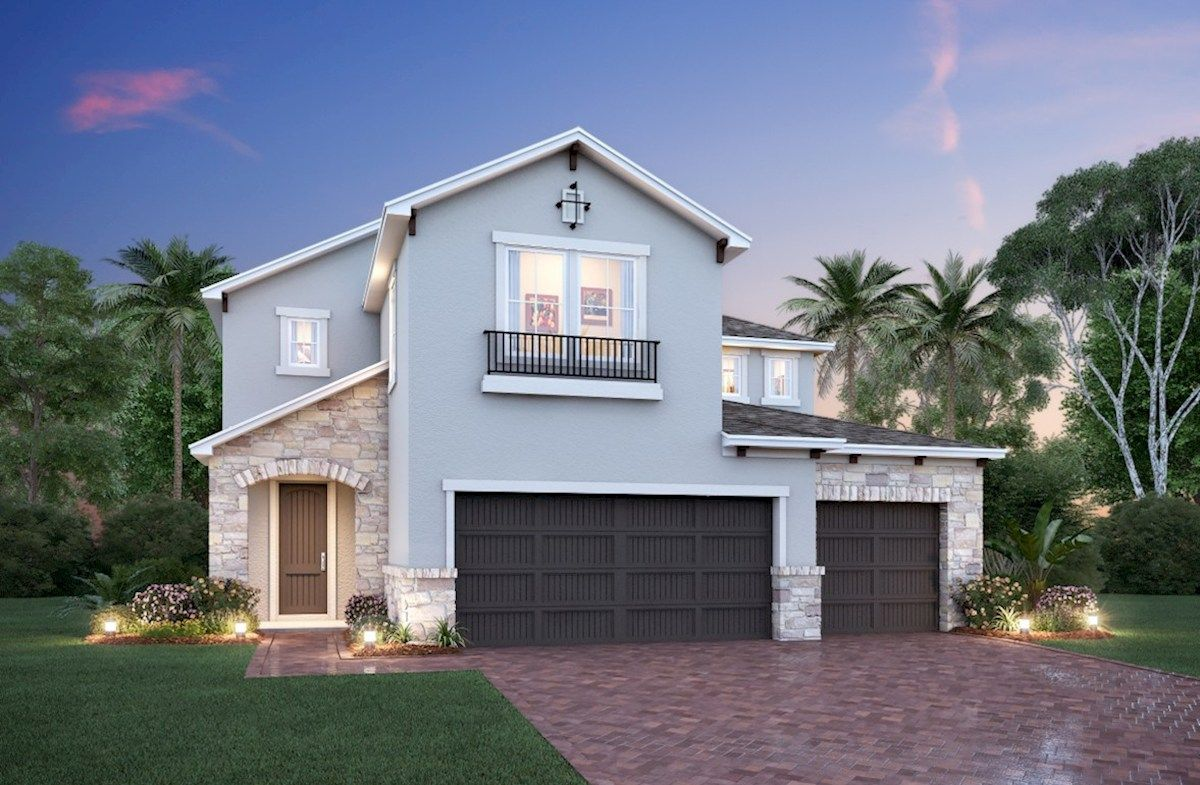 Exterior featured in the Hampton By Beazer Homes in Orlando, FL